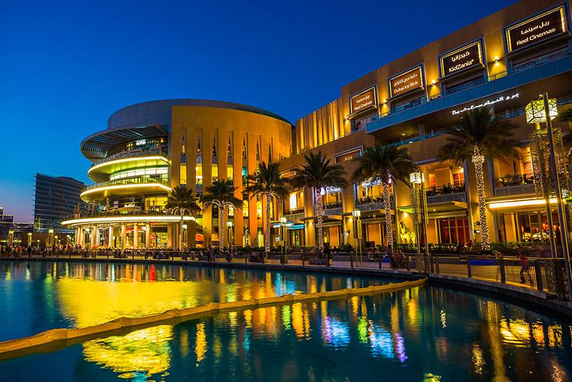Дубай молл: шоппинг, океанариум и поющие фонтаны