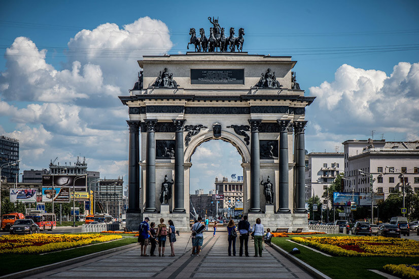 Триумфальная арка (Москва): история парадных ворот